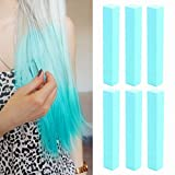 Turquoise Hair Dye | Mint Hilary Duff Hair Dye | TURQUOISE Vibrant Hair Chalk | With Shades of Turquoise Set of 6 Vibrant Hair Dye | Color your Hair Turquoise Blue in seconds with temporary HairChalk
