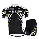 DeLamode Men Mountain Bike Sport Suit Riding Bicycle T Shirt Cool Pant+Shirt 004-M