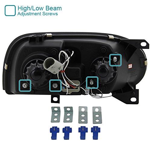 Halo Gloss Housing With Smoke Lens Spec-D Tuning LHP-GLF92G-TM Black Projector Headlight