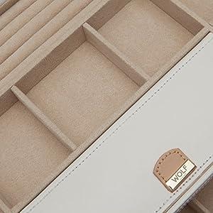 WOLF 301653 Chloe Extra Large Jewelry Box, Cream