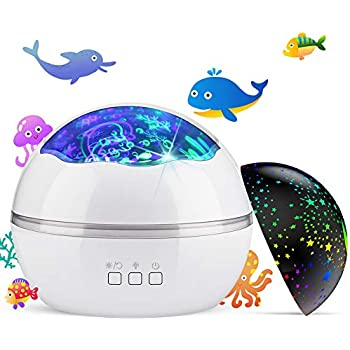 Kids Star Projector Night Light Colorful Starry Ocean