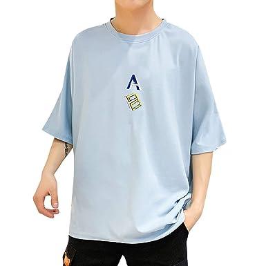 Oliviavan Camiseta de Manga Corta para Hombre, Verano Moda ...