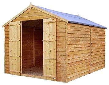 10 x 8 valor solapada sin ventanas de madera cobertizo con puertas dobles (10 mm
