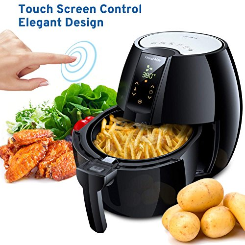 FrenchMay Touch Control Air Fryer, 3.7Qt 1500W, Comes with Recipes & Cook Book (Black) by FrenchMay Air Fryer (Image #6)