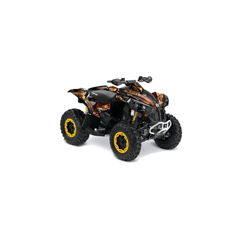 AMR Racing Can Am Renegade 800x 800r ATV Quad Graphic Kit   Fire Storm Black