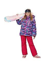 Wonny Girls Ski Jacket Pants Kids Waterproof Winter Skisuit