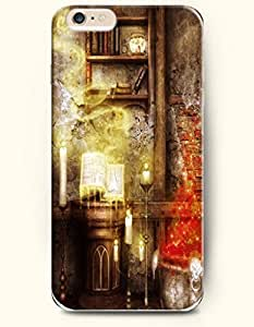 SevenArc Apple iPhone 6 Plus case 5.5 inches - Happy Halloween A Haunted House With Saint Reading In Candle Light...