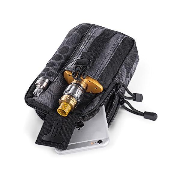 51OJoyTX5vL Ecigdiy Tactical Molle Tasche Kompakte EDC Mehrzweck-Dienstprogramm Gadget Gürtel Gürteltasche mit Handyholster für…