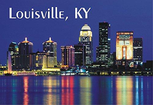 Louisville, Kentucky, KY, Night City Skyline, Souvenir Magnet 2 x 3 Photo Fridge Magnet (Ky Photo)