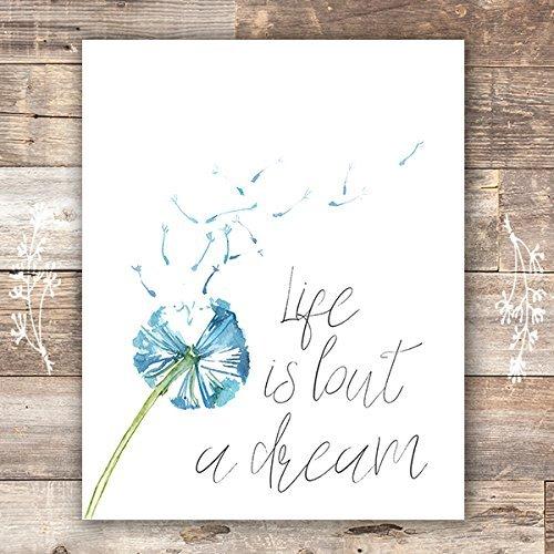 Sweet Print Dreams (Life Is But a Dream Art Print - Unframed - 8x10)