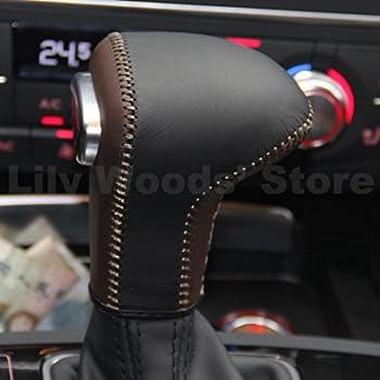 Amazon com: Vesul Chrome Leather Gear Shift Knob for Audi A3