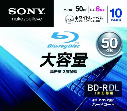 Sony BD-R DL 6X Blu-ray Discs, 10-pack by Sony