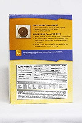 Healthwise - Chocolate Pudding/Shake Mix - 15 Grams of Protein, 90 Calories 1 Gram of Fat, Hunger Suppressant, Appetite Control for Weight Loss - 7 Packets 0.91 OZ NET WT 6.36 OZ
