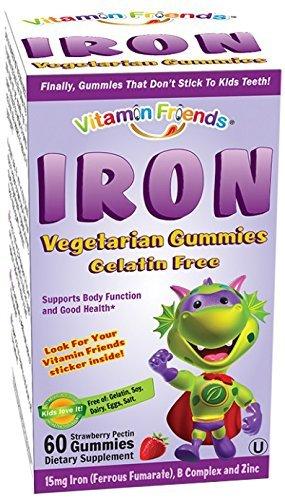 Vitamin Friends Iron Diet Supplement 4Pack (60 Count) B@kgSR1 by Vitamin Friends