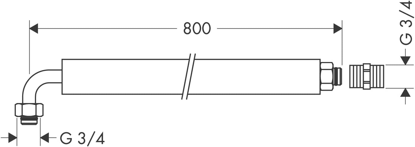 50 mm Stubai 101104 Manche de Rechange pour Marteau 100804 Beige