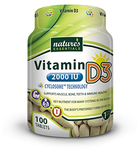 Nature's Essentials Vitamin D3 2000 IU with Advanced Cyclosome Liposomal Delivery Technology - 100 Tablets
