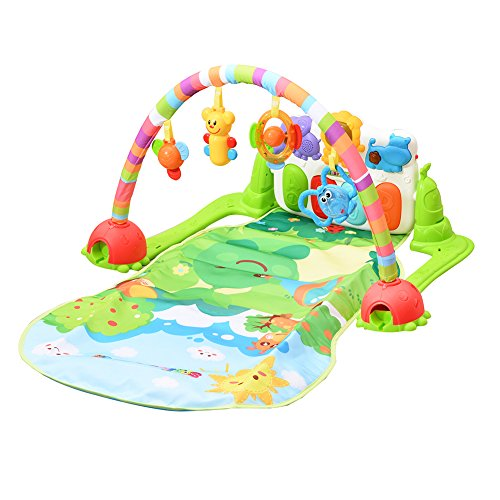 ThinkMax Jungle Piano Kick and Play Musical Gym for Baby Early Development by ThinkMax