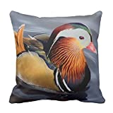Ntpclsuits Mandarin Duck Home Decor Pillow Cover for Girls Throw Pillowcase Dorm Room Decor Throw Pillows for Couch 18 x 18
