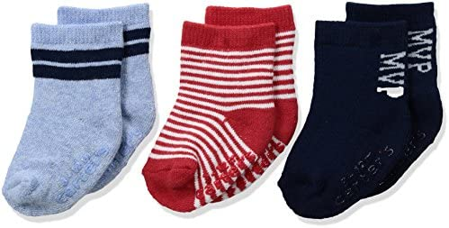 Carters Baby Boys 3 Pack Anchor Computer Socks