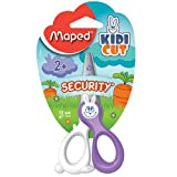Maped Kidicut Safety Scissors, Kids, 4.75 Inch, Blunt Tip, Right & Left Handed (037800)