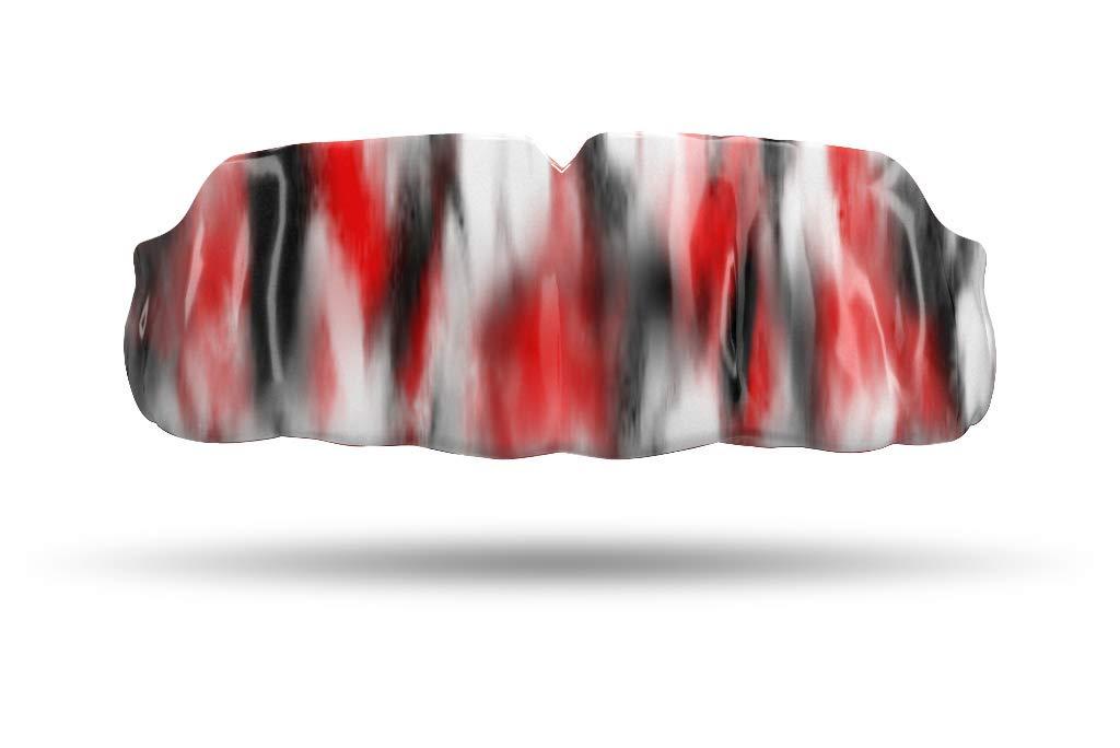 Impact Custom Professional Sports Mouthguard Black/Red Tie Dye by Impact Custom Mouthguards