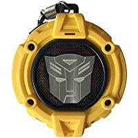 Transformers  Swordfish Tech Bluetooth v4.2 HD Wireless Protable Speaker with LED Autobot Symbol Projector, Build-in Microphone Support Hands-free Rechargeable Function Ipx4 Water and Dust Resistance, Bumblebee Yellow