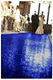 ShinyBeauty Wedding Party Sequin Aisle Runner, Sequin Carpet, 50FTx4FT-Royal Blue