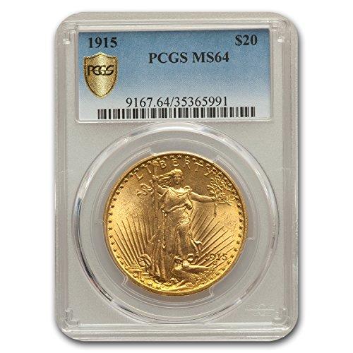 1915 $20 Saint-Gaudens Gold Double Eagle MS-64 PCGS G$20 MS-64 PCGS