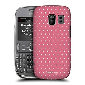 Pink Dots Shabby Chic Design Glossy Back Case Cover For Nokia Asha 302