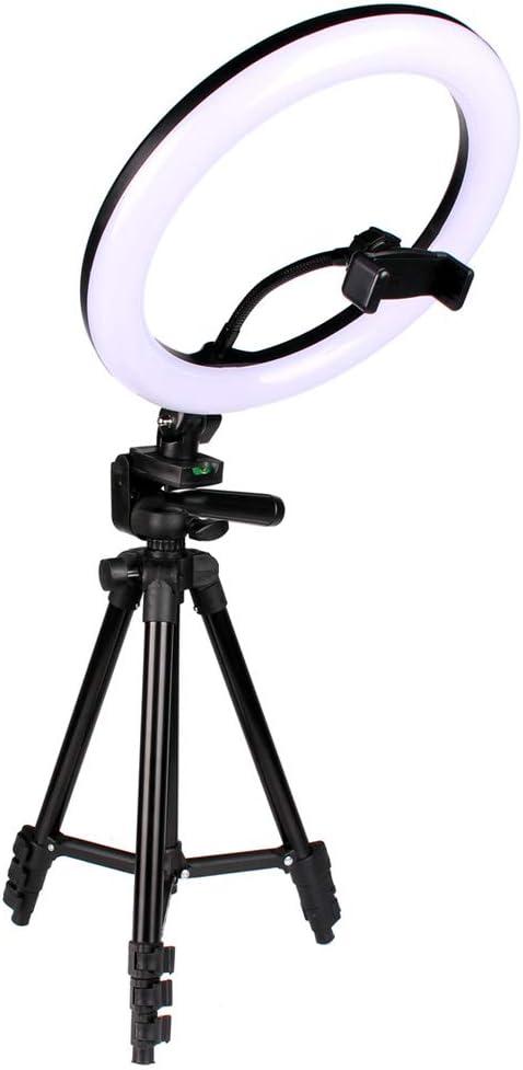 Photography 26cm LED self-Timer Ring Lighting Camera Video kit Tripod Phone Clip USB Ring Light Lighting