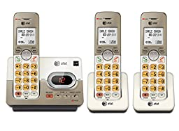 AT&T EL52313 DECT 6.0 Phone Answering System with Caller ID/Call Waiting, 3 Cordless Handsets, Silver