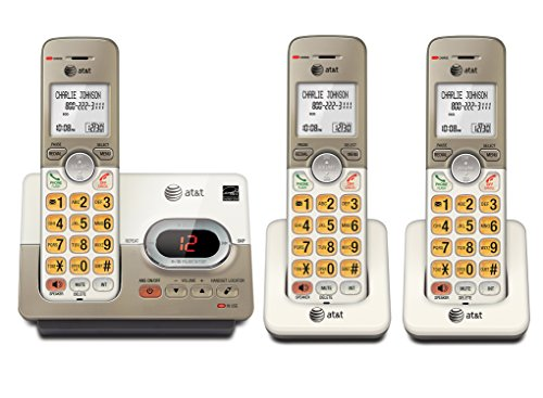Answering Machine 3 Handsets (AT&T EL52313 DECT 6.0 Phone Answering System with Caller ID/Call Waiting, 3 Cordless Handsets, Silver)