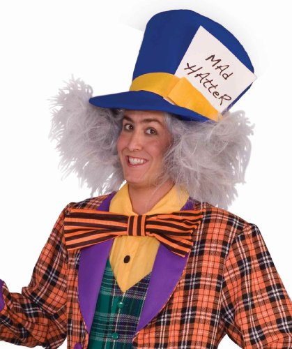 Mad Hatter Wig Adult (Forum Novelties Men's Mad Hatter Costume Wig, Gray, One Size)