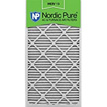 Nordic Pure 16x30x1M13-6 16x30x1 MERV 13 Pleated AC Furnace Air Filter, Box of 6, 1-Inch