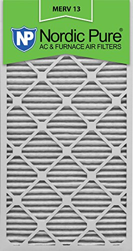 Nordic Pure 14x30x1M13-6 14x30x1 MERV 13 Pleated AC Furnace Air Filter, Box of 6, 1-Inch