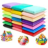 24 Colors Air Dry Clay Magical Kids Clay Ultra Light Modeling Clay Artist Studio Plasticine Toy Safe and Non-Toxic Modeling Clay