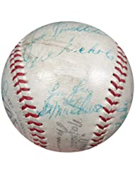1972 New York Yankees Signed American League Baseball With 25 Signatures Including Thurman Munson  a