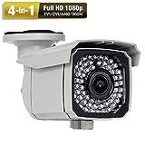 Amview HD 4-in-1 (TVI AHD CVI 960H) Full HD1080P 2.6MP 66IR Outdoor CCTV Security Surveillance Camera
