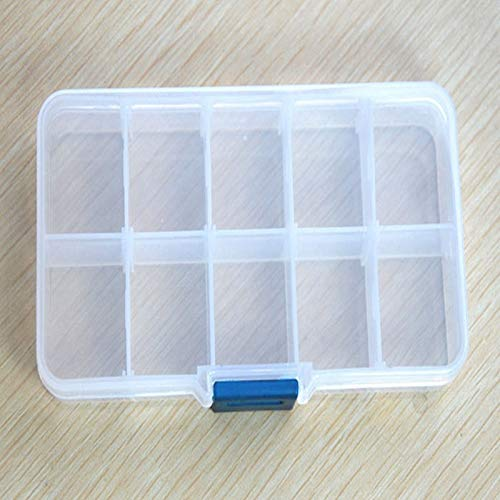 Weiliru Home Pills Jewelry Nail Art Tips Beads Plastic Clear Box Storage Container Case Box Holder