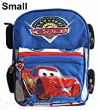 Baby Child Kid Toddler Infant Nursery Boy Girl Disney Pixar 95 Cars Lightning McQueen Backpack Shoulder Book School Bag Schoolbag Toy Gift (Small, Blue)