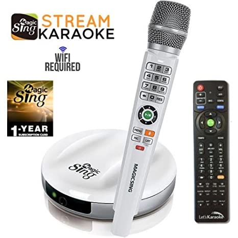 2018 Wireless MagicSing E2 · Home Karaoke · Stream 10,000+ English Songs ·  Subscribe to Stream 200,000+ Songs in Hindi, Tagalog, Spanish, & more ·