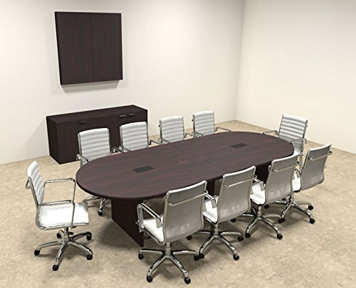Modern Racetrack 10' Feet Conference Table, OF-CON-C3