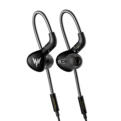 Amazon Whizzer Haydn A15 PRO Stainless Steel Dynamic Driver IEM Earphones With Detachable MMCX 6N OFC Cable Black Home Audio Theater