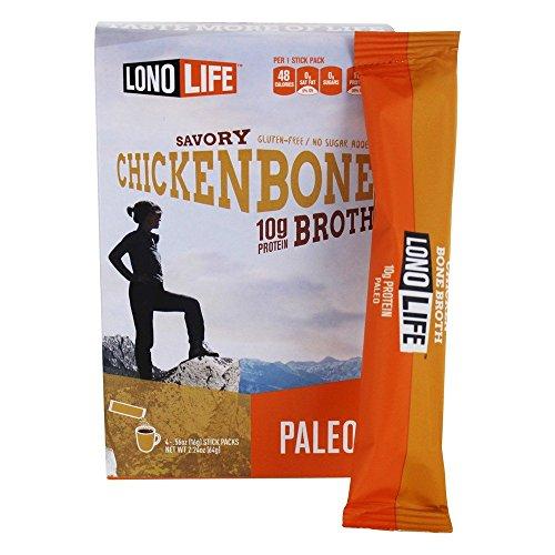 Lonolife Stick chicken Bone Broth, 2.12 oz, 4 ct