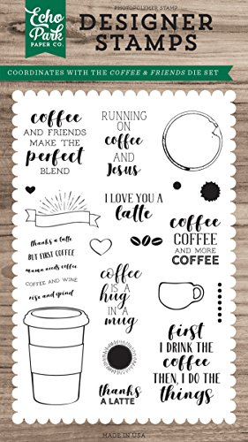Echo Park Paper Company Coffee & Friends Stamp