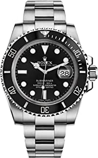 35690ffe7 Amazon.com: Rolex Submariner Black Dial Stainless Steel Automatic ...