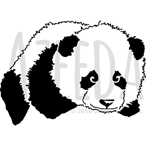 amazon com a3 panda lying down wall stencil template