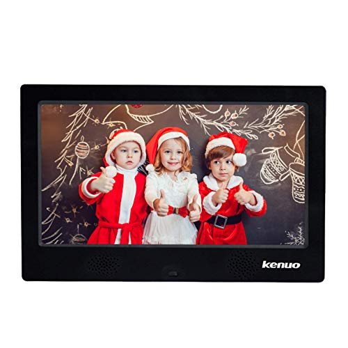 - Advanced Digital Picture Photo Frame with High Resolution HD 1024x600(16:9) Eletronic Picture Frame with Video Player Stereo MP3 Calendar Auto On/Off Timer 10 inch-Black