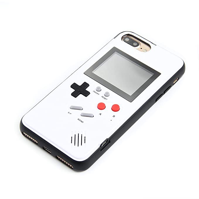 LayOPO Gameboy iPhone Case, iPhone Case Game Console with 36 Small Games,Color Screen,Retro 3D Gameboy Design for iPhone Xs/X,iPhone8/8 Plus,iPhone ...