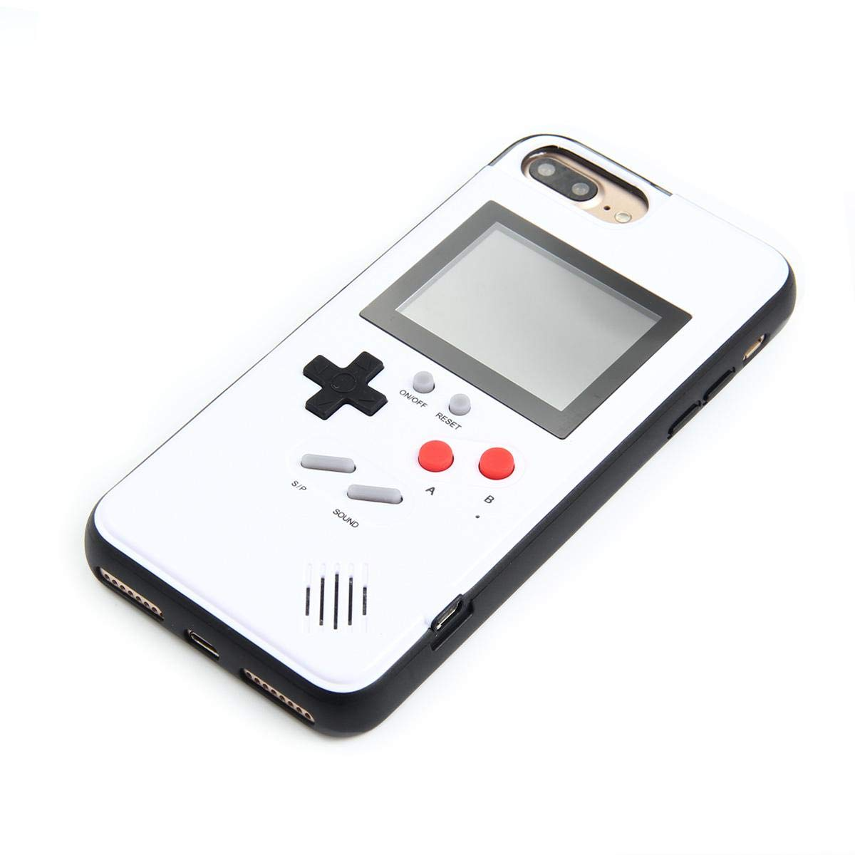 Womdee Game Console iPhone Case, Handheld Game Console Case Cover with 36 Games Phone Case (iPhone 6p/7p/8p, White) by Womdee (Image #3)